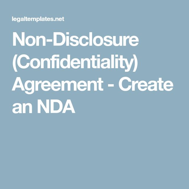 The 25+ best Non disclosure agreement ideas on Pinterest What is - confidentiality agreement pdf