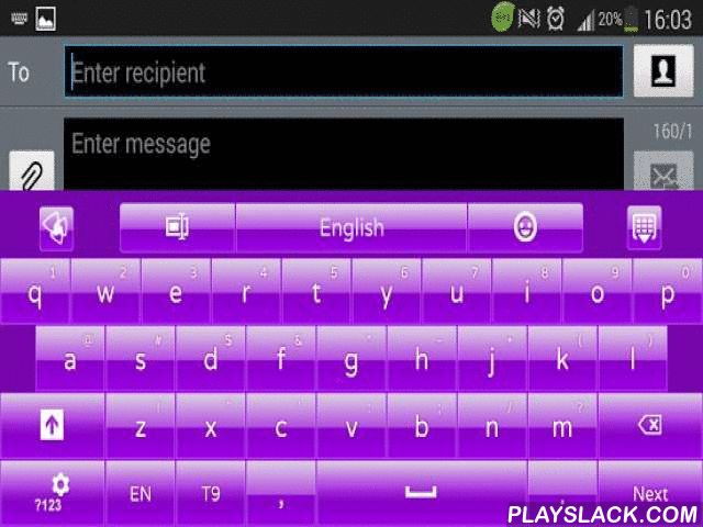 Simply Purple GO Keyboard  Android App - playslack.com , To use this application, you need to have GO Keyboard installed. *** How to use this theme ***Download theme -> Press Open -> Press Apply Theme -> select Simply Purple*** How to use a custom font? Long press '? 123' key -> Advanced Settings-> Font settings-> Scan fonts -> Select font that has GO Keyboard Simply Purple on it. For more details, see the last screenshot/presentation video. *** The app is not listed…