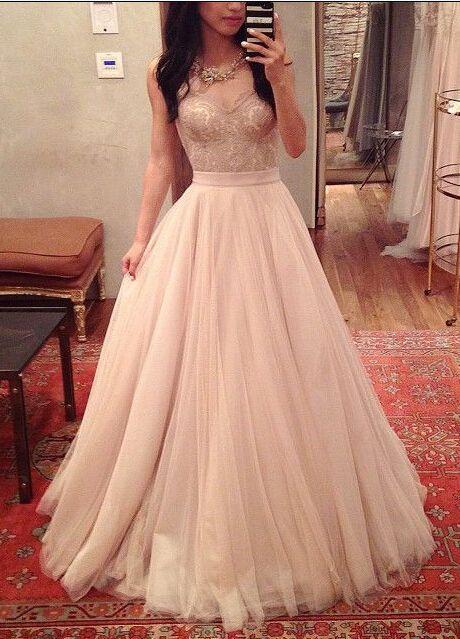 Charming Prom Dress,Spaghetti Straps Prom Dress,A-Line Prom Dress,Noble Prom Dress,Tulle Prom Dress