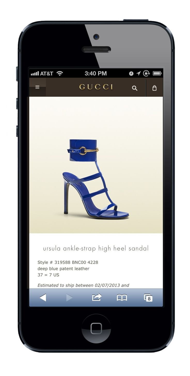Huge and Gucci launched Gucci.com's mobile website, allowing customers to easily browse and purchase products wherever and whenever they choose.
