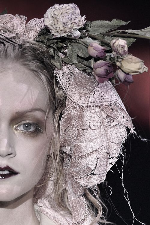 {miss havisham makeup and hair adornments}