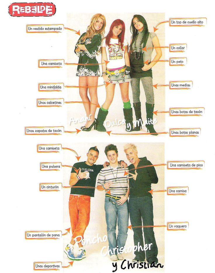 d94ede2ee12d3e799ae3ddfbd28de020 spanish 49 best spanish la ropa moda images on pinterest spanish classroom