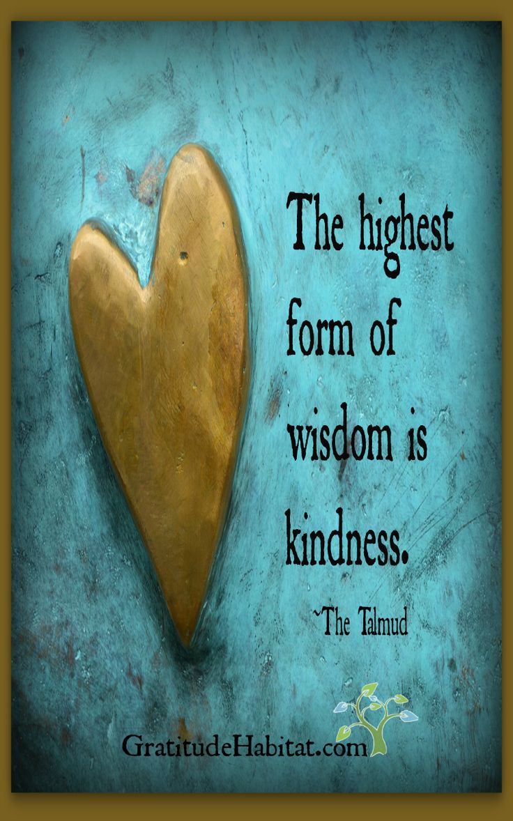The Highest Form Of Wisdom Is Kindness ~ Be Kind ~❤️~ Visit us at: www.GratitudeHabitat.com