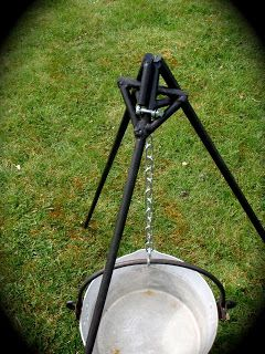 Open Fire Tripod For Hanging Cooking Pots And Kettles