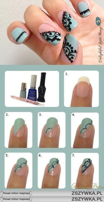 lace idea, nails