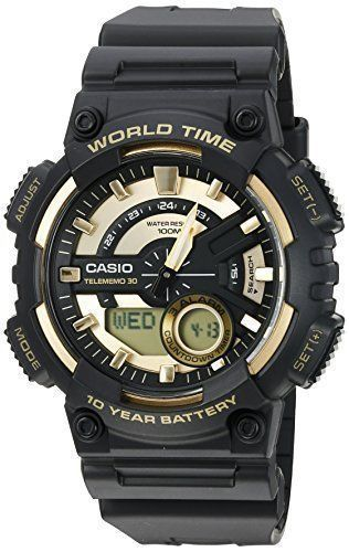 Casio Men's Quartz Resin Watch, Black, 10yr Battery, Water Resistent, New  #Casio #Military
