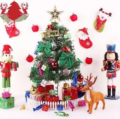 23 Pcs Christmas Tree Decoration Xmas Hanging Decor Santa Gift Bowknot Ornaments #Unbranded