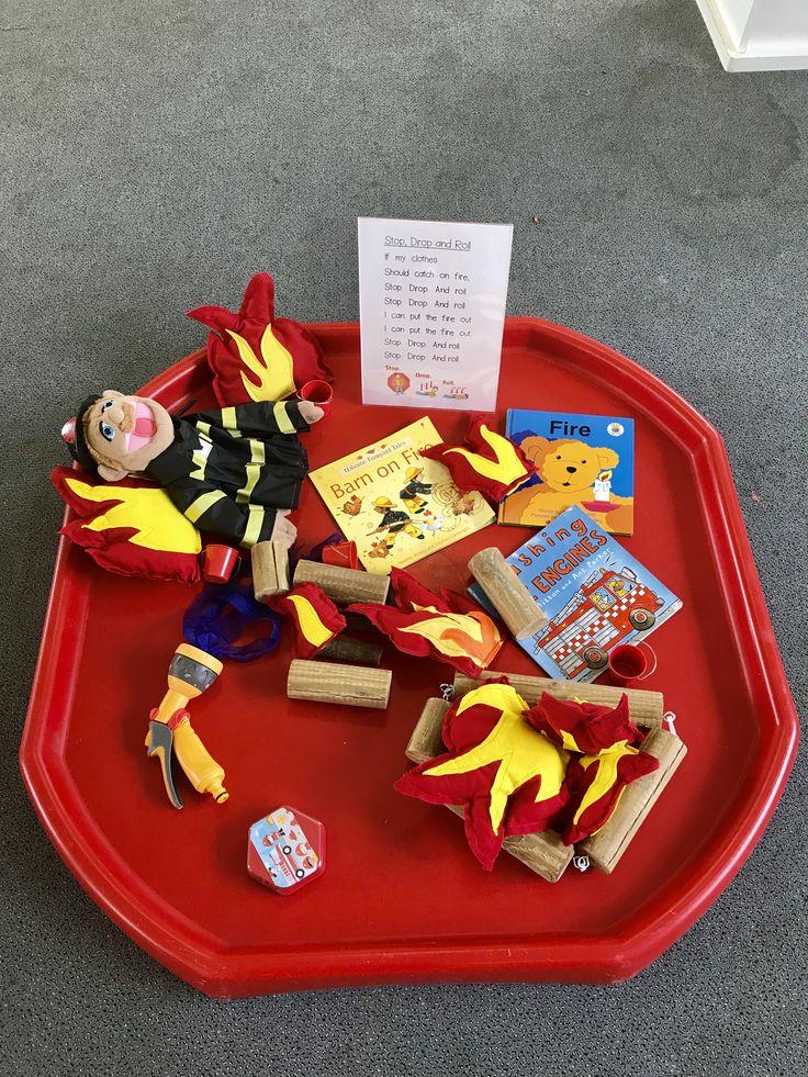 Fire safety tuff tray Fire safety preschool, Tuff tray