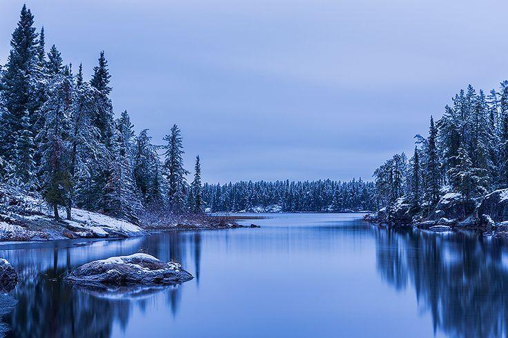 Frosty Black Lake by Nebojsa Novakovic on 500px