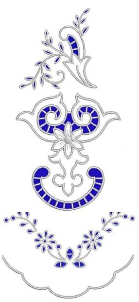 Advanced Embroidery Designs. Cutwork Lace Set  - instructions on how to embroider the machine designs.