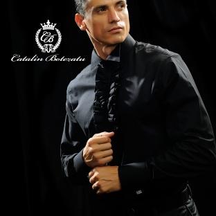 """Camasile cu guler inalt sunt un """"must have"""" datorita masculinitatii si elegantei emanate. Acest model de camasa este recomandat la un costum elegant, fara a va mai incorseta cu cravate sau alte accesorii inutile. De asemenea, ea poate trece catre linia sport eleganta prin asocierea cu un pantalon simplu. Este o camasa care a fost creata sa va ajute la ocazii speciale.    Compozitie : bumbac 100%"""