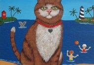 cat-on-beach