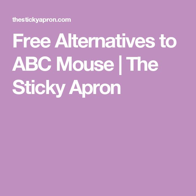 Free Alternatives to ABC Mouse | The Sticky Apron