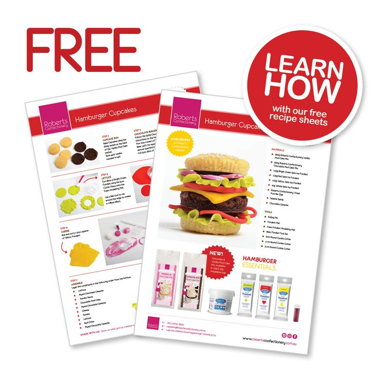 Go to our website and get your FREE recipe sheets: www.robertsconfectionery.com.au
