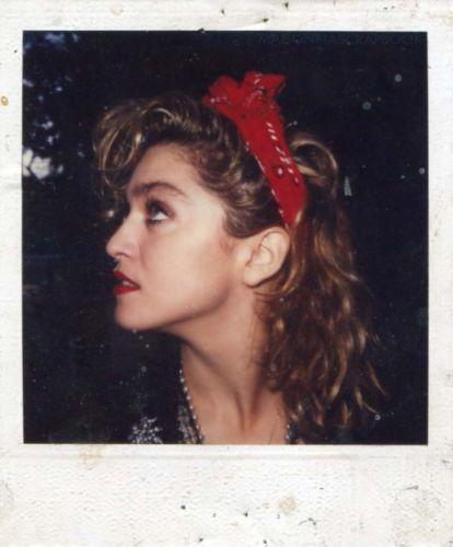 Madonna Polaroid on the set of Desperately Seeking Susan.