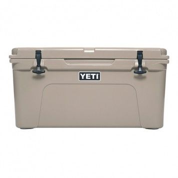 YETI Tundra 65 Tan | Need this for more space, food options when camping.