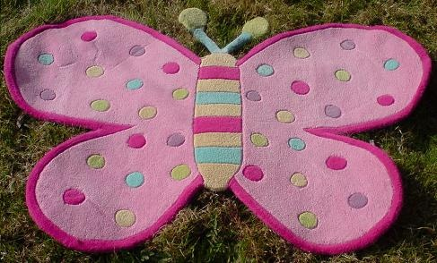 Butterfly Rug £44.95 Funky Nursery For Gorgeous Nursery Furniture, Nursery  Cot Bedding And Nursery Decoration, Cots, Cot Beds And Baby Bedding, Nuru2026