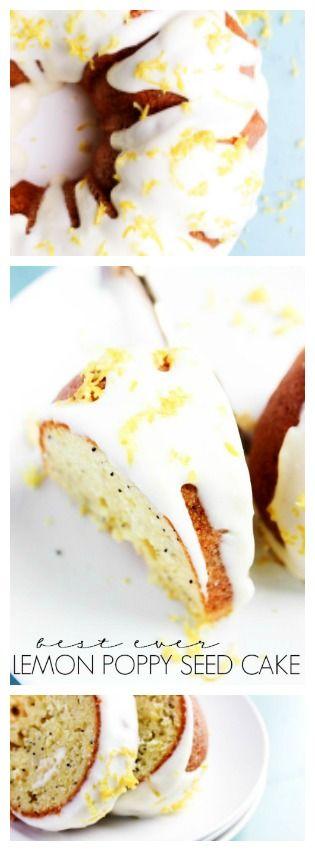 Best Ever Lemon Poppy Seed Cake - A Dash of Sanity