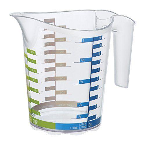 Rotho 1750510379 Messbecher DOMINO aus Kunststoff SAN, transparente Mess-Kanne mit farbiger Skala, BPA-frei, Inhalt 0,5 Liter, ca. 15,8 x 10 x 12,7 #Rotho #Messbecher #DOMINO #Kunststoff #SAN, #transparente #Mess #Kanne #farbiger #Skala, #frei, #Inhalt #Liter,