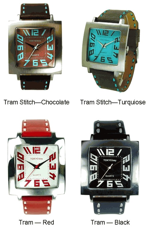 Tokyo Bay Watches - Unisex Tram (T105) and Tram Stitch (T106)