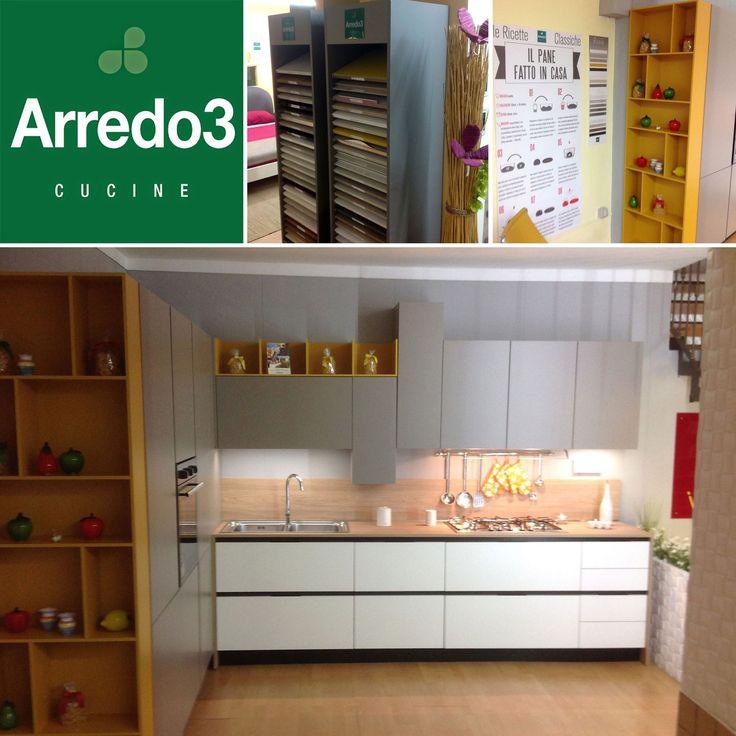Da Oropallo Mobili ci arrivano le foto di questa bella #esposizione di cucine Arredo3: amici della #Campania, siete già passati a trovarli? http://www.arredo3.it/rivenditori/