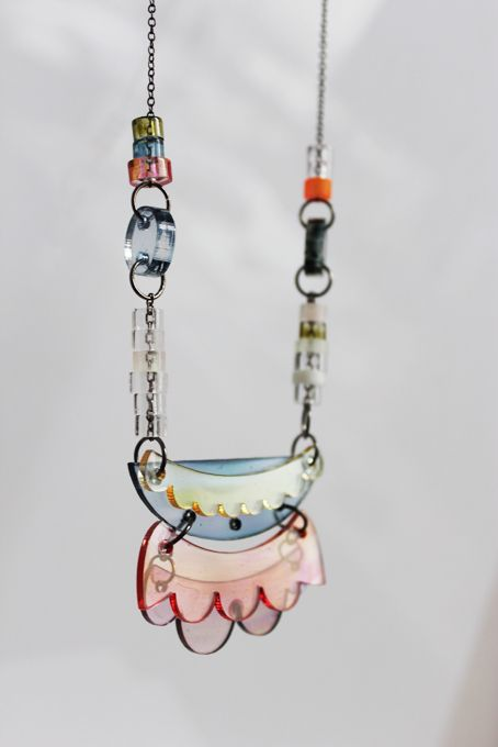 painted plexi necklace