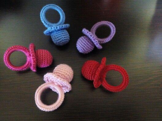 Chupas de colores a crochet