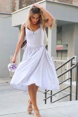 gray ROMAN HOLIDAYS summer dress SAMPLE SALE ON http://milieubazaar.com