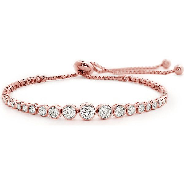 CARAT LONDON Quentin rose-gold plated Millennium bracelet found on Polyvore featuring jewelry, bracelets, rose jewelry, ball chain jewelry, rose jewellery, evening jewelry and chains jewelry