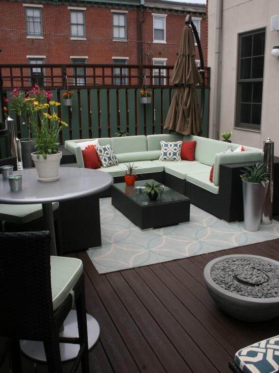 Condo terrace design pictures remodel decor and ideas for Patio furniture design ideas