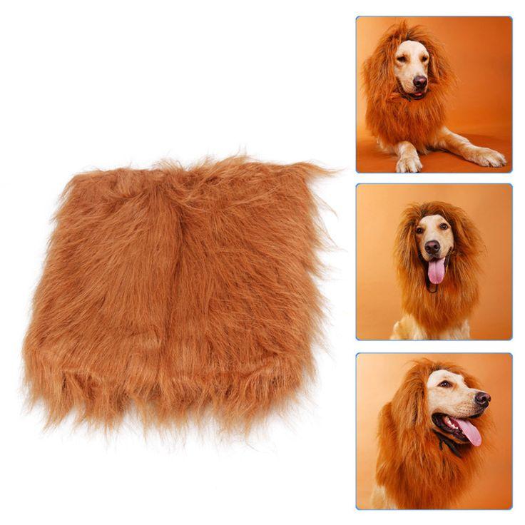 Pet Costume Dog Lion Wigs Mane Hair Festival Party Fancy Dress Halloween Costume pet lion hair,pet hair accessories