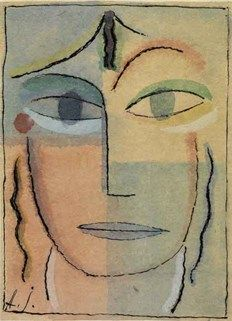 A Prominent 20th Century European Collection December 8th-9th The watercolour Tête de Femme by Alexej Von Jawlensky to be sold by Tajan. The estimate is €250,000-300,000.