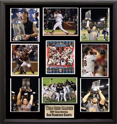 """""""San Francisco Giants 2010 World Series Champions Framed 30"""""""" x 34"""""""" 9 Photographs Collage"""": """"This… #Sport #Football #Rugby #IceHockey"""