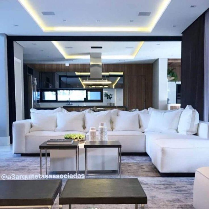 Sofá branco: Aprenda a usar e limpar + 63 lindas modelos   – decor sala