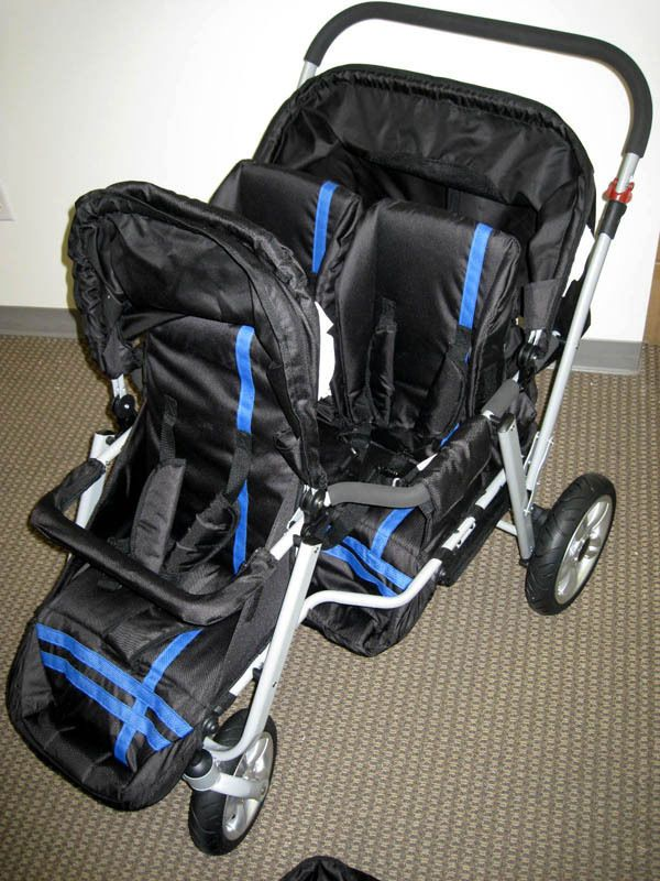 Newly Designed Triple Triplet Baby Jogger Stroller Infant Roller Chair - BLUE in Baby | eBay