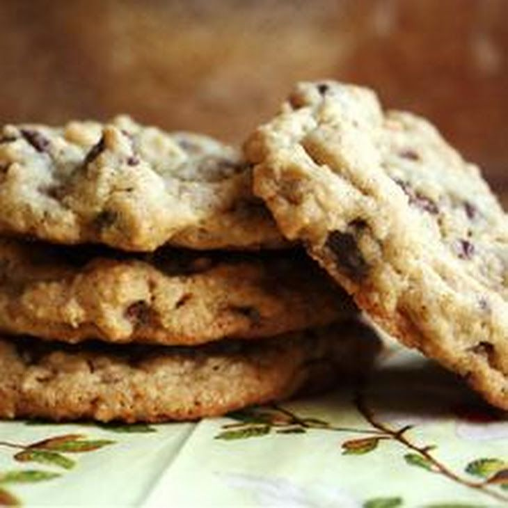Urban Legend Chocolate Chip Cookies Recipe Desserts, Afternoon Tea with butter, white sugar, brown sugar, eggs, vanilla extract, all-purpose flour, rolled oats, salt, baking powder, baking soda, semi-sweet chocolate morsels, milk chocolate, chopped walnuts
