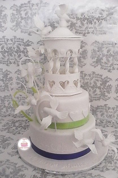 Dove and Bird Cage cake