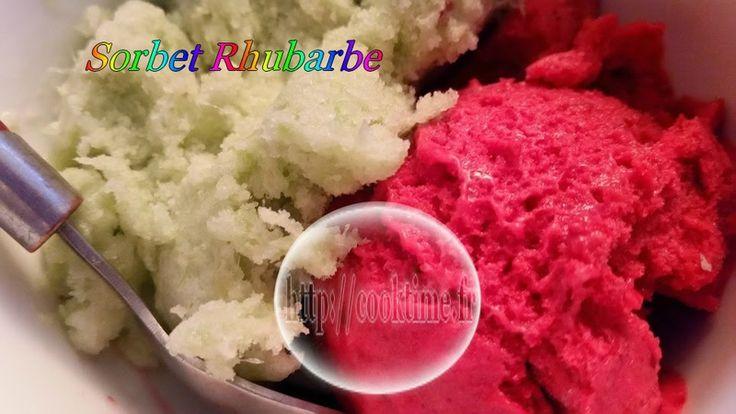 Sorbet à la Rhubarbe ( au Thermomix )