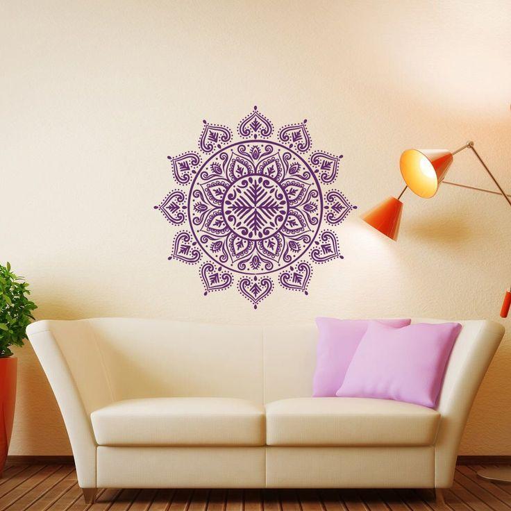 Boho Flower Wall Stickers