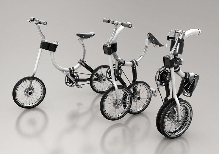 Складной велосипед с овальной рамой Somerset. Кайзер Ченг создал велосипед Somerset с овальной рамой, выполненной из стальной трубки. Путем нехитрых манипуляций велосипед можно сложить и превратить в ручную тележку, что создает удобство для транспортировки в общественном транспорте.