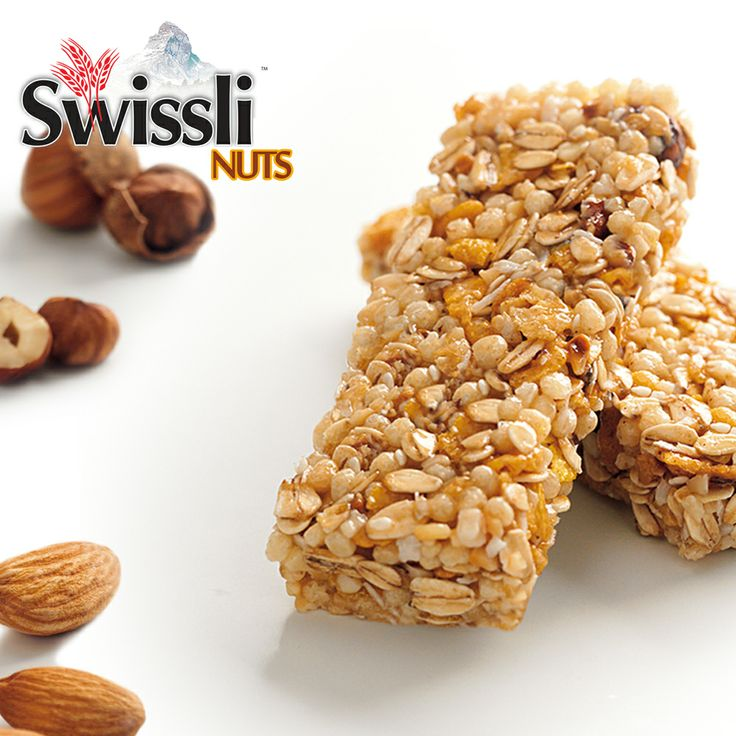 Chewy #Hazelnut  #Almond #MuesliBars !!  - No sugar added - Low sodium - Source of fibre - Only 100 calories per bar  #Free Shipping for order within #Canada !!!   #Deals #Save #CerealBars #Breakfast #Swissli  http://www.swisslimuesli.com/