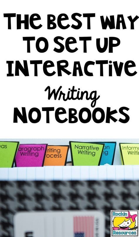 I finally found the perfect method for setting up interactive writing notebooks!!!!!