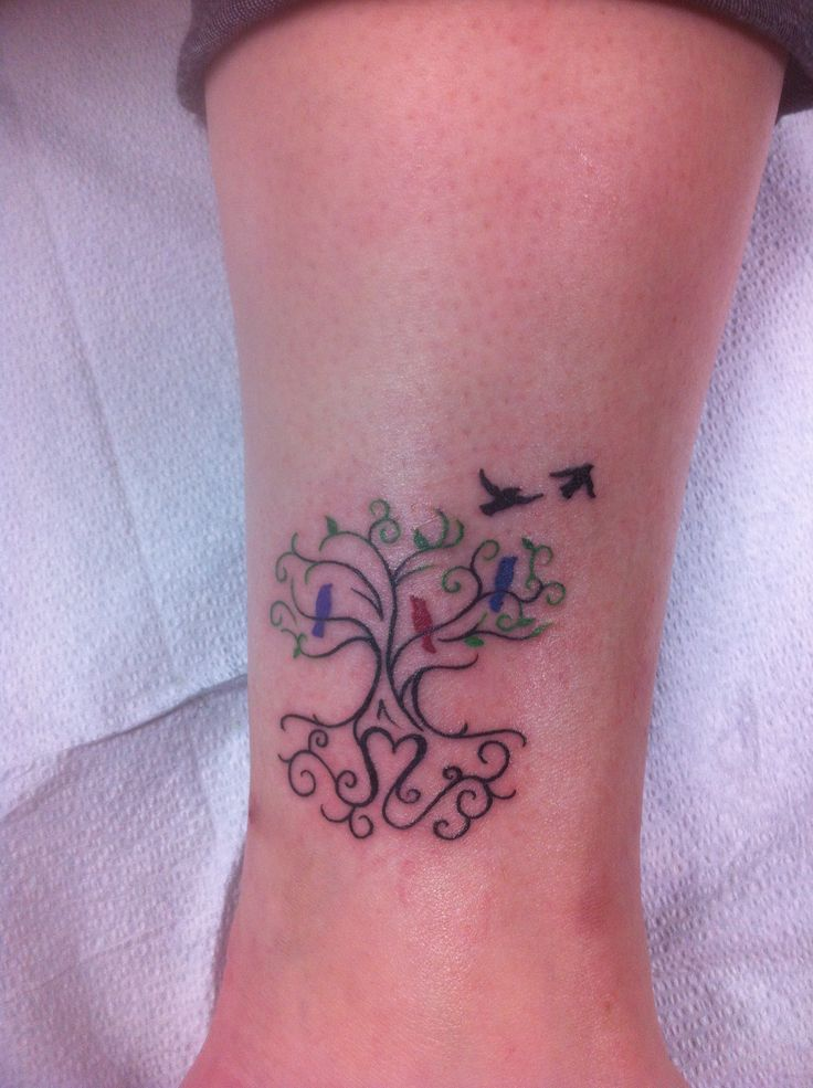 Roots and wings - family tree tattoo ideas - With sadies initials in the roots
