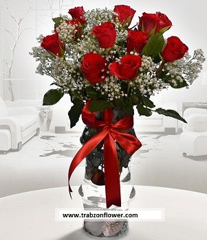 11 gül ve cibso http://www.trabzonflowers.com/