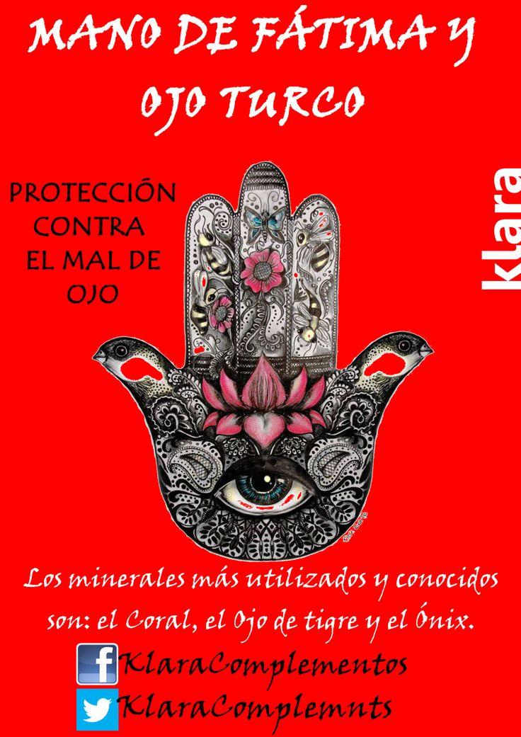 """¡Consigue tu pulsera de """"La mano de Fátima"""" en el sorteo de Facebook! https://www.facebook.com/KlaraComplementos"""