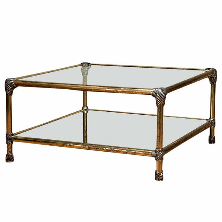 Classic Vintage French 55 Square Two Tier Brass Glass: 78+ Images About Modern Lucite, Glass And Brass Coffee