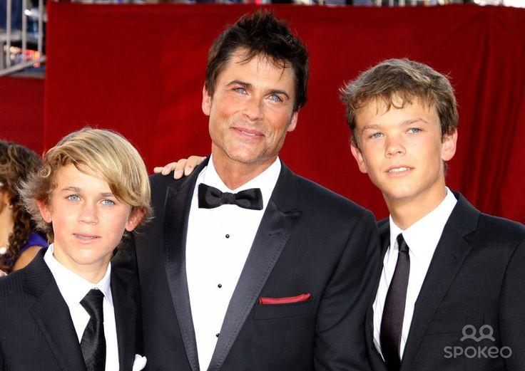 Photo of Rob Lowe & his  Son  John Owen Lowe