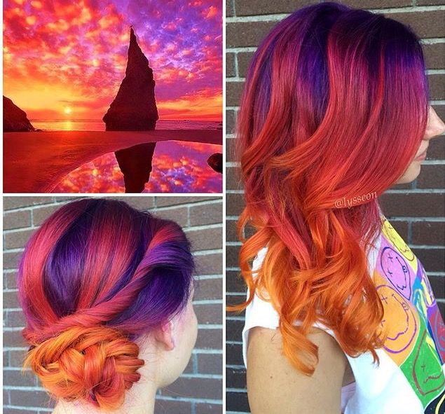 The perfect #sunset hair by @lysseon www.arcticfoxhaircolor.com