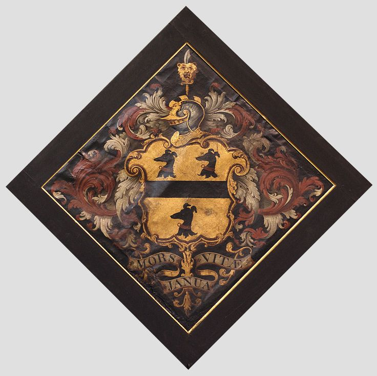 Hatchment at St. Mary's church in Ecclesfield, Yorkshire, England