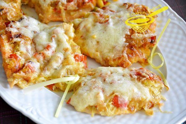 z cukrem pudrem: kurczak zapiekany z porem i mozzarellą